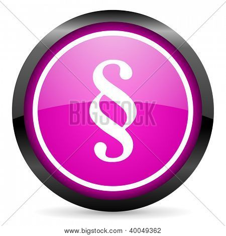 paragraph violet glossy icon on white background