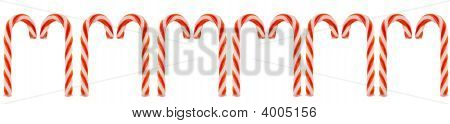 Row Of Candy Canes