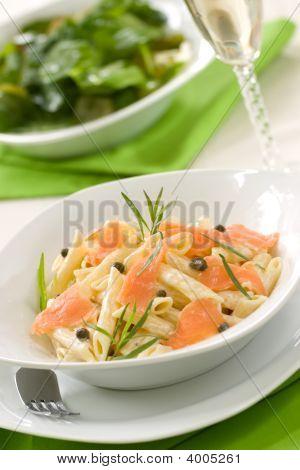 Lachs pasta