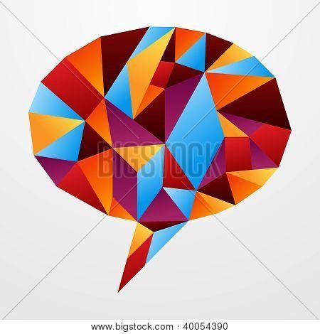 Diversity Origami Speech Bubble Isolated