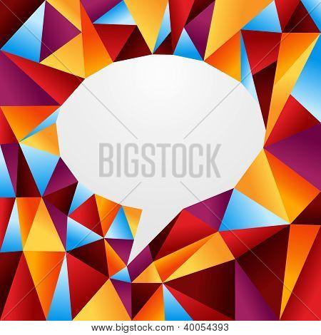 Diversity Origami Speech Bubble