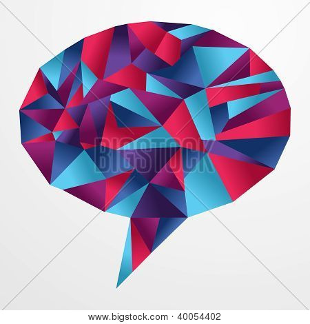 Origami Social Speech Bubble