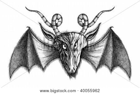 Demon With Bat Wings