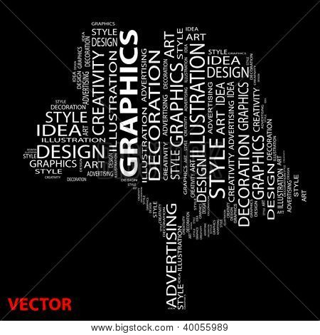 Vector eps concept or conceptual abstract tree shape isolated on black background  metaphor to design,graphic,nature,ecology,child,young,idea,style,creative,fashion,artist ,art,decor abstract project
