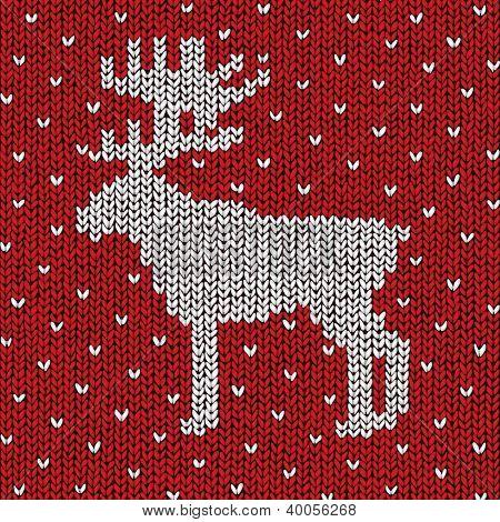 Christmas sweater background, vector eps10 illustration