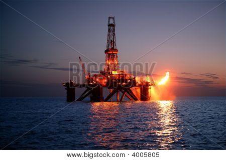 Gas Rig Flaring