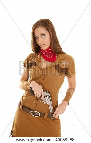 Pistol In Belt