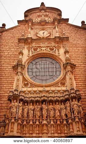 Christ Disciple Statues Gothic Cloister Monestir Monastery Of Montserrat Barcelona, Catalonia, Spain