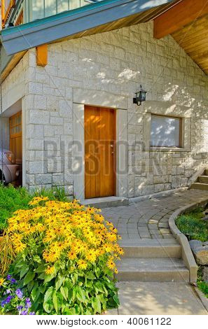Entrance of a house in Whistler, Canada.