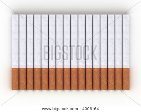 Cigarettes Isolated On White Background