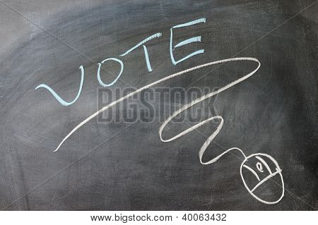 Vote And Mouse Symbol