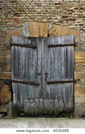 Old Derelict Wooden Door
