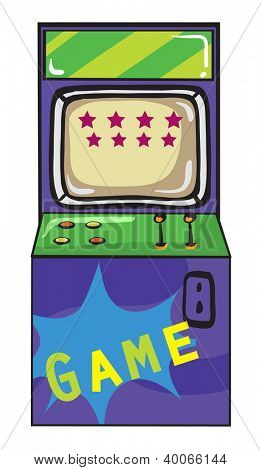 illustration of a gaming machine on a white background