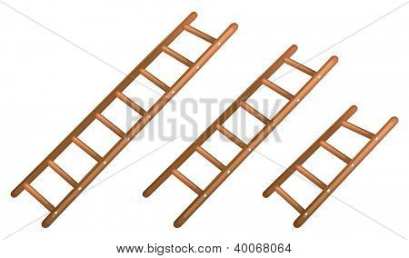 illustration of a ladder on a white background