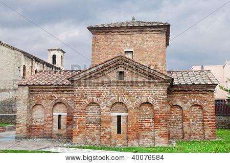 Ancient Galla Placidia Mausoleum In Ravenna