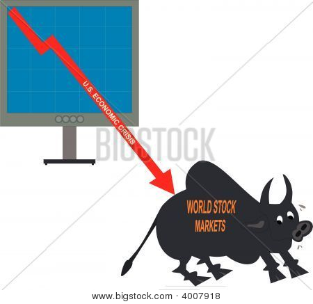 Vector World Stock Market Crisis