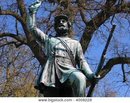 Landsoldaten The Foot Soldierin Statue Fredericia, Denmark.