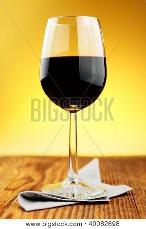 Glass Of Fine Italian Red Wine