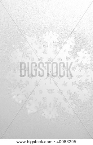 Snowflake pattern on window