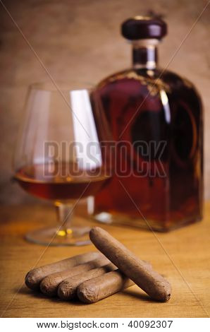 Cuban Cigars And French Cognac