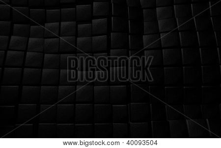 black 3d leather cube background texture