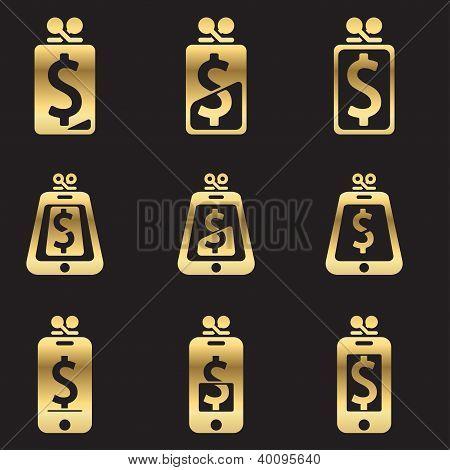 Set of account balance isons
