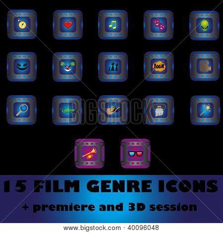 Film Genre Icons