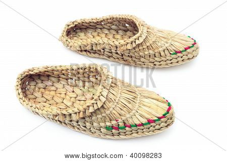 Two Woven Bast On A White