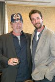 SAN DIEGO, CA - JULY 13: Will Patton and Noah Wyle arrive at the 2012 Comic Con convention press roo
