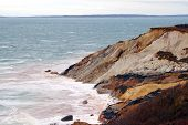 foto of martha  - This is the famous Gay Head colorful cliffs in Aquinnah on Martha - JPG