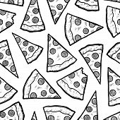 Seamless pizza slice vector background