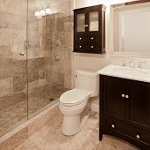 picture of partition  - Modern bathroom - JPG