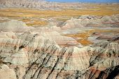 stock photo of scoria  - Scenic view at Badlands National Park - JPG