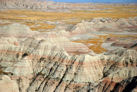 image of scoria  - Scenic view at Badlands National Park - JPG
