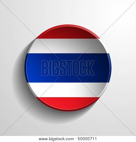 Thailand 3D Round Button