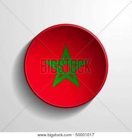 Morocco 3D Round Button