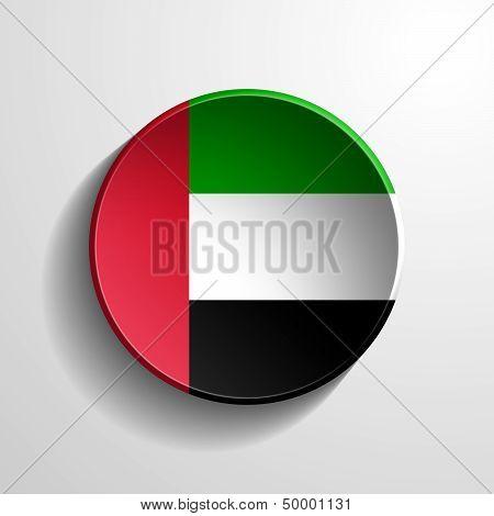United Arab Emirates 3D Round Button