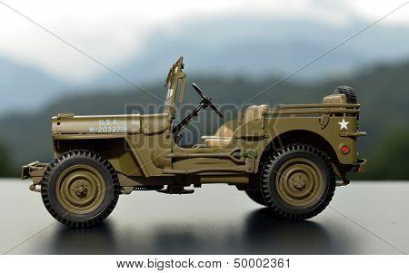 miniature military car