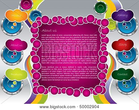 Speakers And Bubbles Web Template