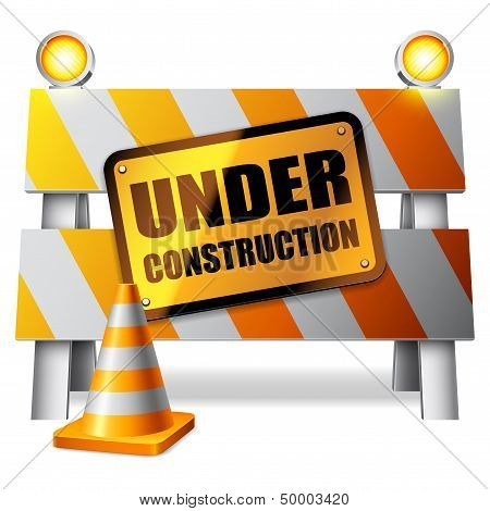 Under construction barrier
