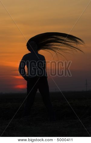 Girl With Long Hairs.