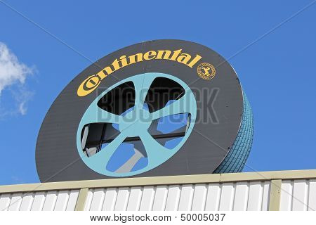 Sign Continental Of Tire Shape
