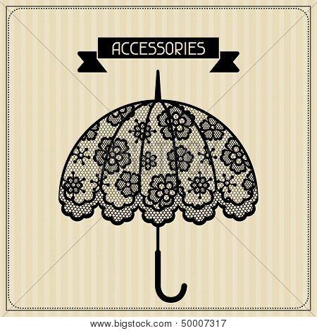 Accessories. Vintage lace background, floral ornament.