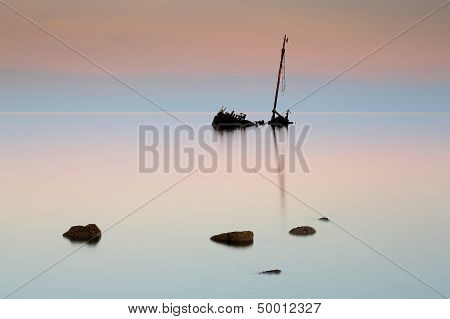 Flat calm sunrise