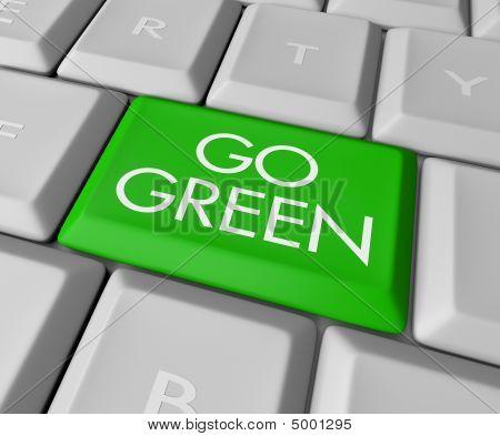 Ir a llave de computadora verde