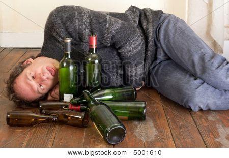 Sad And Drunk Man