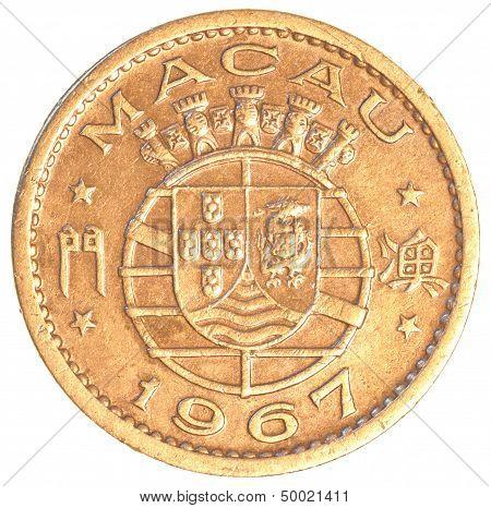 Old 10 Macanese Avos Coin