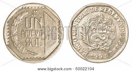 50 Peruvian Nuevo Sol Centimos Coin