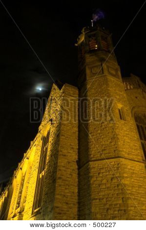 Bonython Building And The Moon