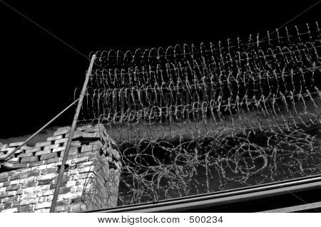 Barbed Wire Fence (b&w)